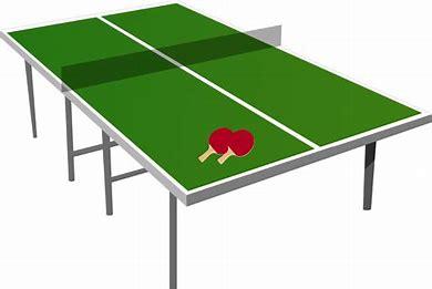 卓球台とラケット