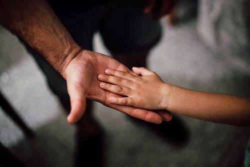 大人と子供の手