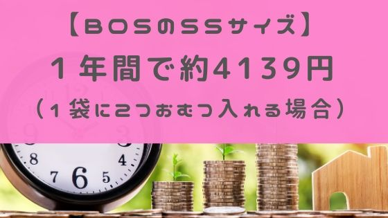 BOSのSSサイズにかかる1年間の費用